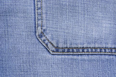 Background jeans. Closeup on blue jeans, texture Stock Images
