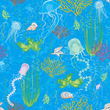 Background with jellyfishes Royalty Free Stock Image