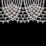 Background with jeweled pendants on black Royalty Free Stock Photos