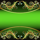 Background with jewels and ornaments stripe for te Stock Photos