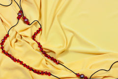 Background of jewels on yellow Royalty Free Stock Images