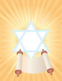 Background of Jewish holiday Simchat Torah. Background with Torah to the holiday Simchat Torah Stock Image