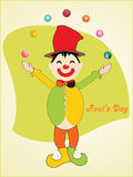 Background with joker juggling balls Stock Images