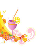 Background with juice Royalty Free Stock Photography