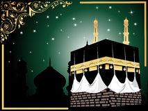 Background with kaaba illustration Royalty Free Stock Photo