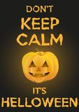 Background Keep Calm with Pumpkin for Halloween. Stock Photography