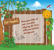 Background for kid web template Royalty Free Stock Images
