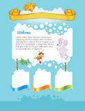 Background for kid website Royalty Free Stock Image