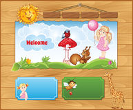 Background for kid website Royalty Free Stock Images