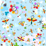 Background for kids. Colorful, funny background for kids stock illustration