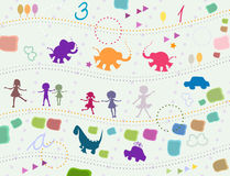 Background for kids Stock Photography