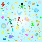 Background for kids royalty free illustration