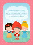 Background with kids, Girl in fairy tales, Template for advertising brochure,your text . Stock Image