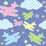 Background for kids with toy planes Royalty Free Stock Photos