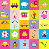 Background for kids with toys Royalty Free Stock Photo