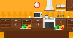 Background of kitchen with appliances. Royalty Free Stock Image