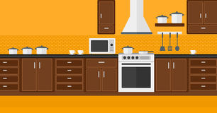 Background of kitchen with appliances. Royalty Free Stock Photography