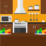 Background of kitchen with appliances. Stock Image