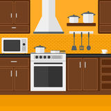 Background of kitchen with appliances. Stock Photos