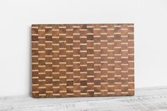 Background of the kitchen cutting board made from the bamboo multiple piece royalty free stock images