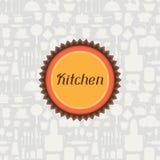 Background with kitchen and restaurant utensils stock illustration