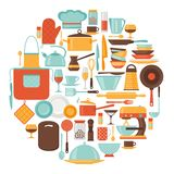 Background with kitchen and restaurant utensils Royalty Free Stock Photography