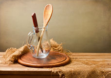 Background with kitchen utensils Stock Image