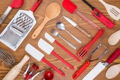 Background of kitchen utensils Royalty Free Stock Photos