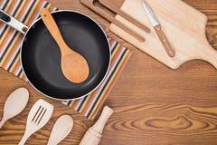 Background of kitchen utensils Stock Photo