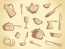 Background of kitchen ware Stock Image