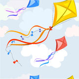Background with a kite, seamless texture Royalty Free Stock Photos