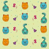 Background of kittens. They play and sleep Royalty Free Stock Photo