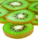 Background of kiwi slices Stock Image