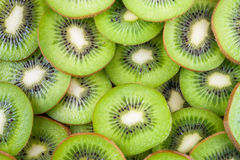 Background of kiwi slices Stock Photography