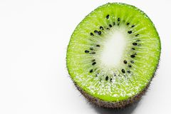 This picture is a kiwifruit on white background Royalty Free Stock Image