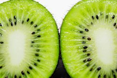 This picture is a kiwifruit on white background Stock Images
