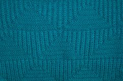 Background of knitted blue pullover Stock Images