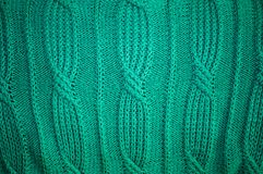 Background of knitted green pullover Royalty Free Stock Images