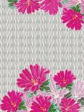 Background of knitted linen a bouquet of pink bright asters royalty free illustration