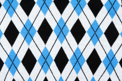 Background from knitted plaid fabrics Royalty Free Stock Images