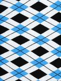 Background from knitted plaid fabrics Stock Photography