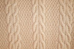 Background of knitted yellow pullover Royalty Free Stock Photos