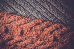 Background of knitting patterns Stock Photo