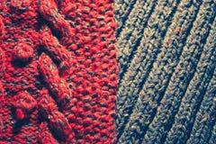 Background of knitting patterns Stock Image
