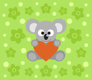 Background with koala cartoon Royalty Free Stock Image