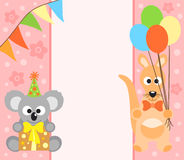 Background  with koala and kangaroo Royalty Free Stock Photos