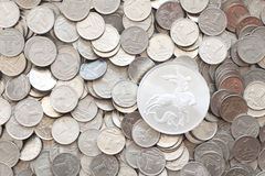 Background of a kopeck coin Royalty Free Stock Photography