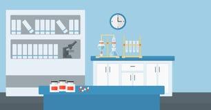 Background of laboratory interior. Stock Photos
