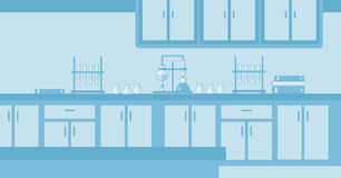 Background of laboratory interior. Royalty Free Stock Photos