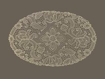 Background lace doily pattern sepia Stock Photos